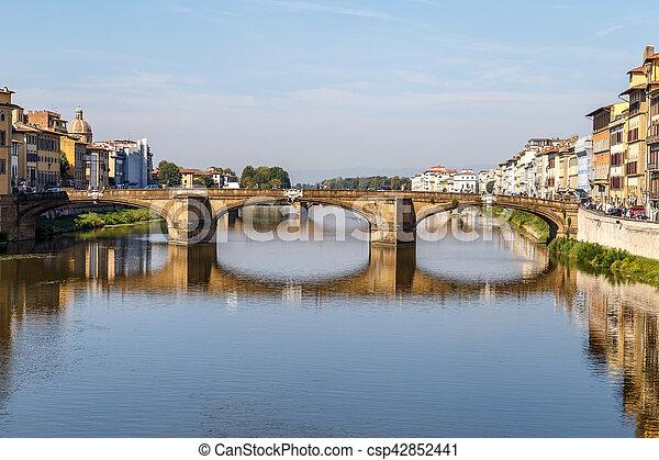 Ponte Santa Trinita over the Arno River - csp42852441