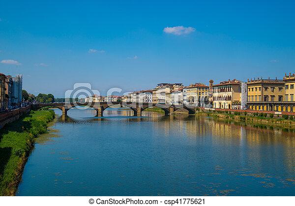 Ponte Vecchio bridge in Florence, Italy - csp41775621