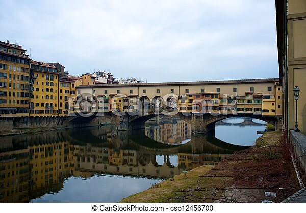 Ponte Vecchio bridge in Florence, Italy. - csp12456700