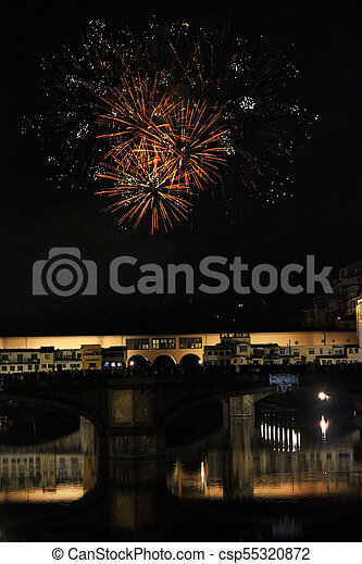 Ponte Vecchio bridge in Florence - csp55320872