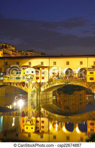 Ponte Vecchio bridge in Florence - csp22674887