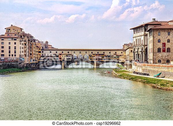 Ponte Vecchio bridge in Florence - csp19296662