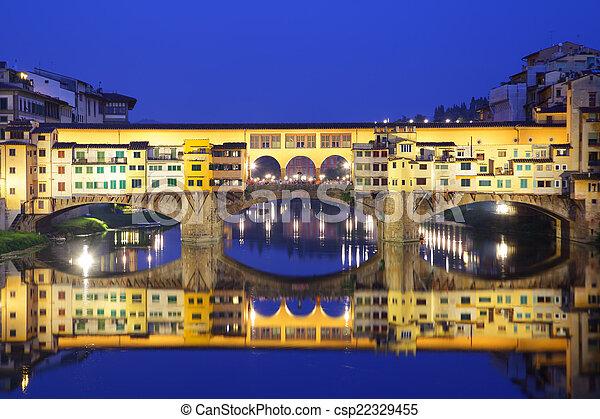 Ponte Vecchio bridge in Florence - csp22329455