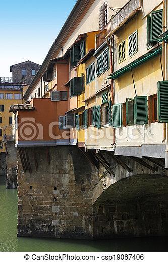 Ponte Vecchio bridge in Florence - csp19087406