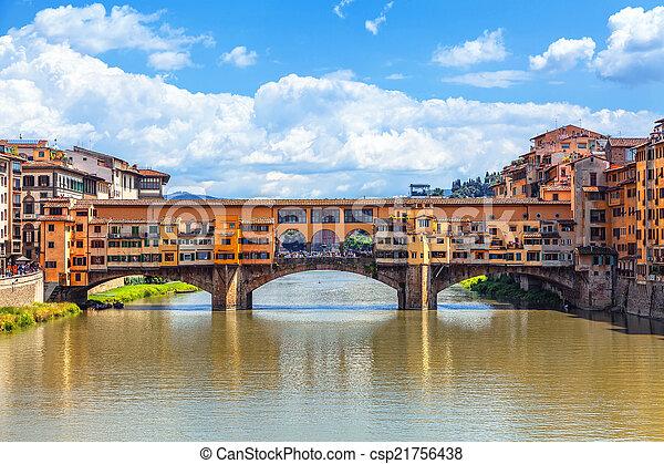 Ponte Vecchio Bridge in Florence - csp21756438