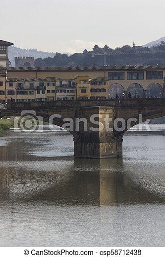 Ponte Vecchio bridge in Florence - csp58712438