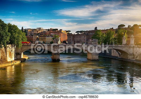 Ponte Vittorio Emanuele II - csp46788630