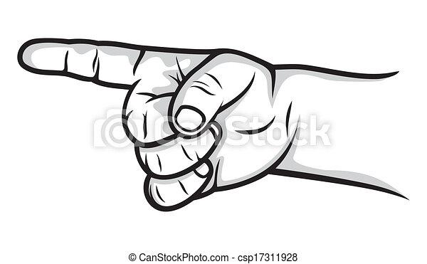 ponteiro, dedo, criança - csp17311928