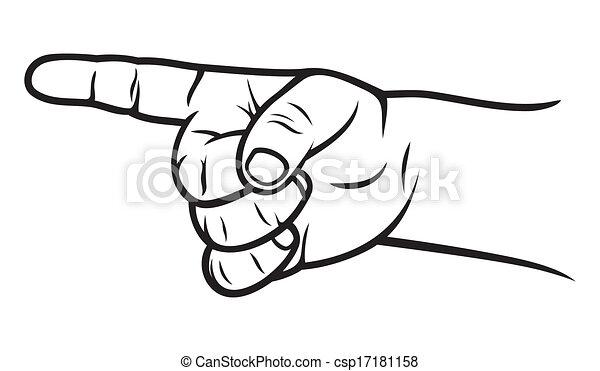 ponteiro, dedo, criança - csp17181158