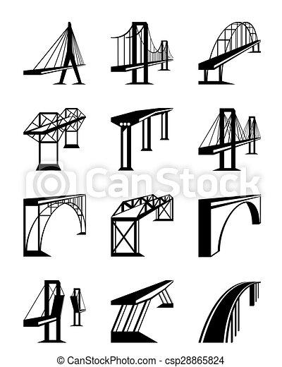 pontes, vário, perspectiva - csp28865824