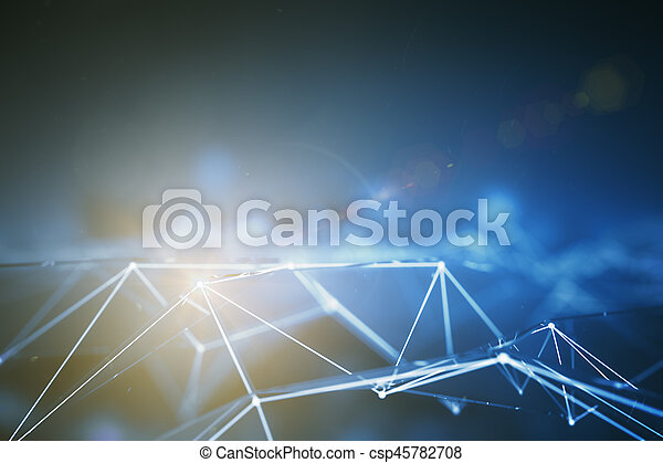 pontos, conectado, cinzento - csp45782708