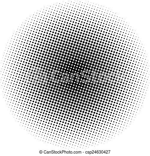 pontos, gradiente, óptico, radial - csp24630427