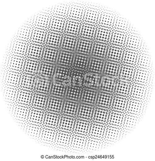 pontos, gradiente, óptico, radial - csp24649155