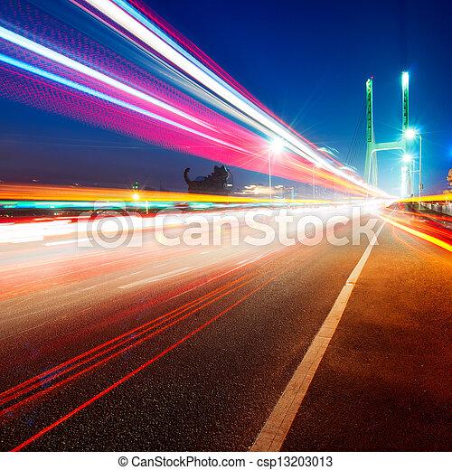 ponts, pistes lumière - csp13203013