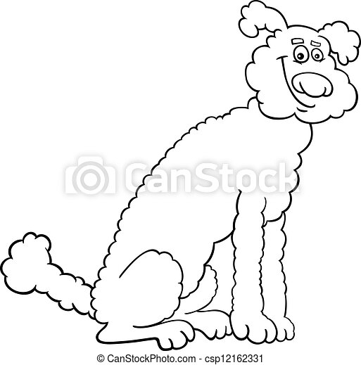 Poodle Dog Cartoon For Coloring Book Black And White Cartoon Illustration Of Cute Poodle Dog For Coloring Book Or Coloring Canstock