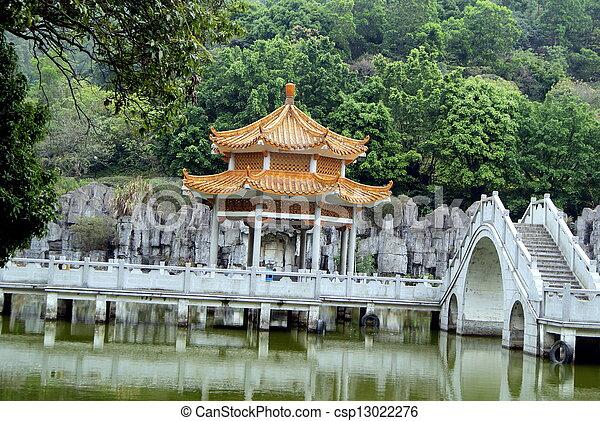 Pool and leisure pavilion  - csp13022276