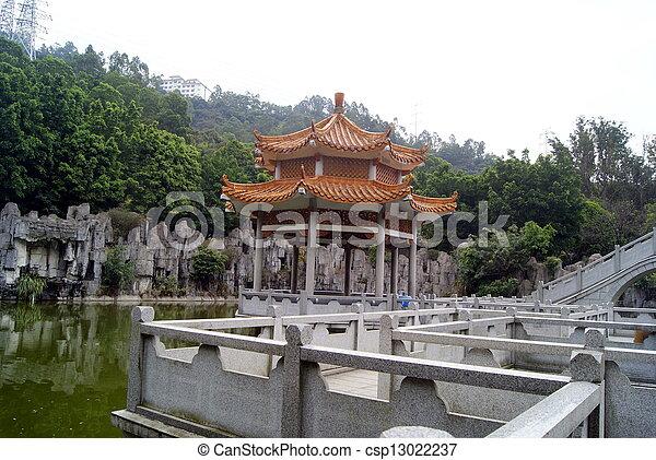 Pool and leisure pavilion  - csp13022237