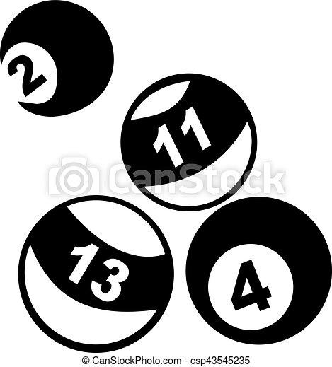 Pool Balls - csp43545235