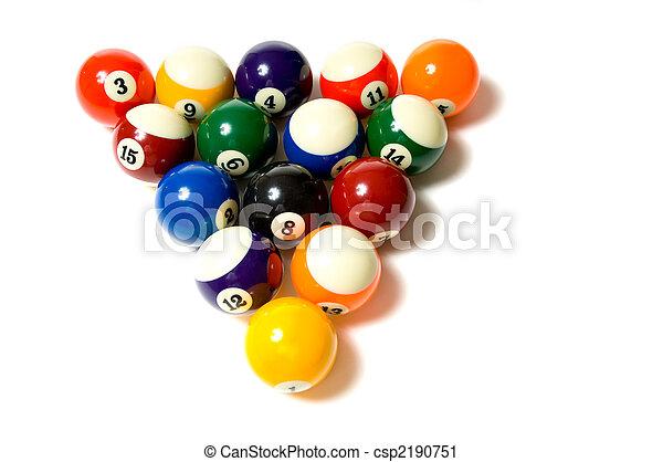 Pool Balls on white - csp2190751