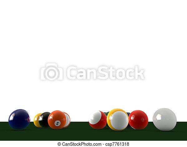 pool balls - csp7761318