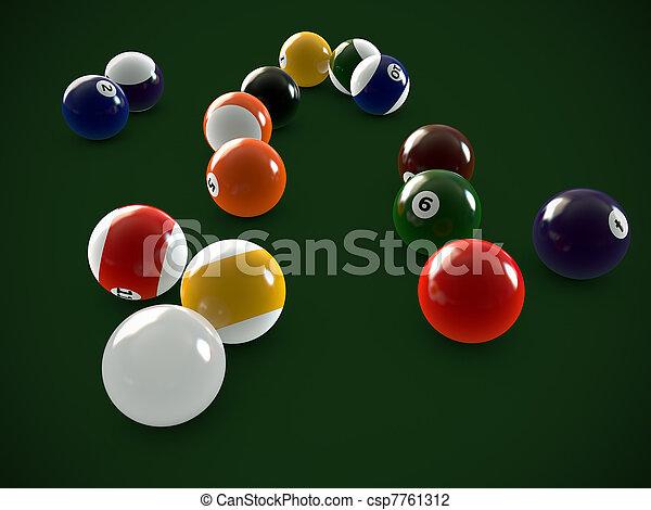 pool balls - csp7761312