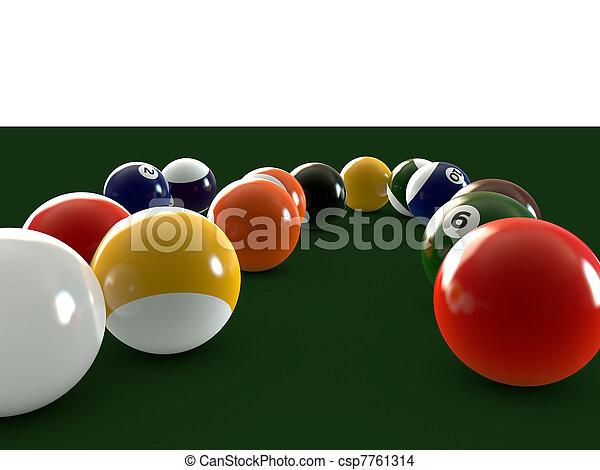 pool balls - csp7761314