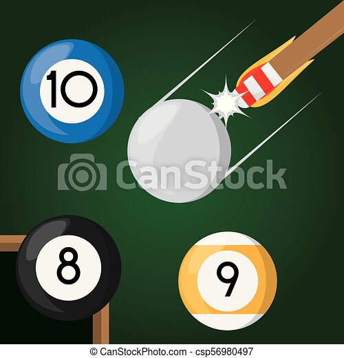 pool billiard hobby play game - csp56980497
