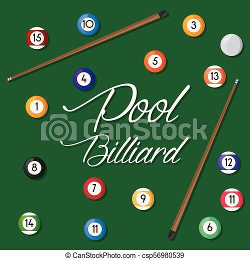 pool billiard hobby play game - csp56980539