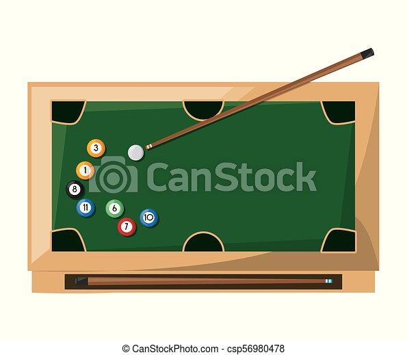 pool billiard hobby play game - csp56980478