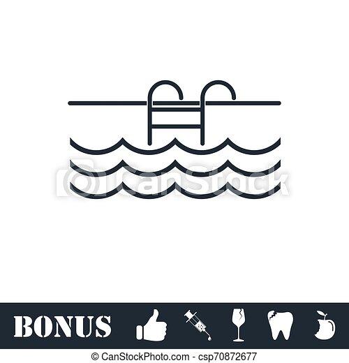 Pool icon flat - csp70872677