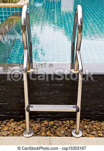 Pool ladder. - csp15353167
