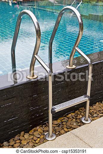 Pool ladder. - csp15353191