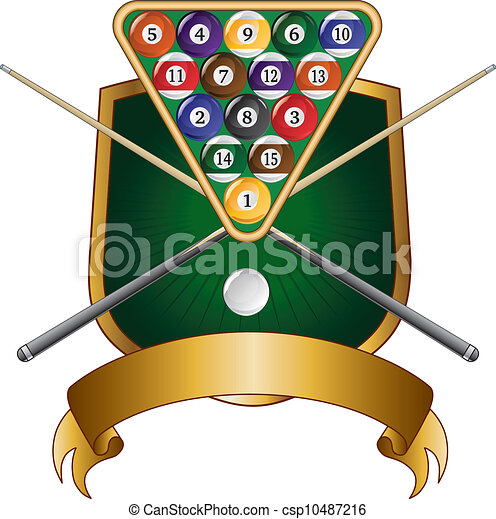 pool or billiards emblem design shi illustration of a pool or rh canstockphoto com billiards clipart free vector billiards balls clipart