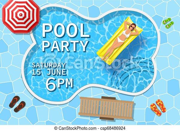 Pool Party Invitation Concept