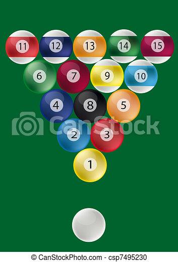 Good Pool Table: Ball Triangle Vector