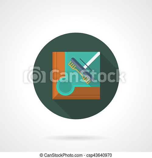 Groovy Pool Table Brush Flat Round Vector Icon Home Interior And Landscaping Sapresignezvosmurscom