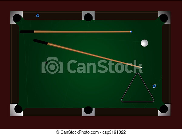 Editable Vector Pool Table Background With Space For Your