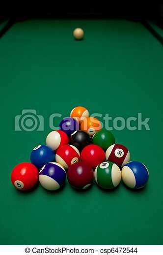 Pool Table Set Up For The First Shot - How to set up a pool table