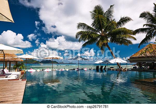 poolside, lusso, molo - csp26791781