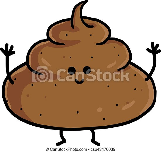poop cute cartoon vector illustration clipart rh canstockphoto com