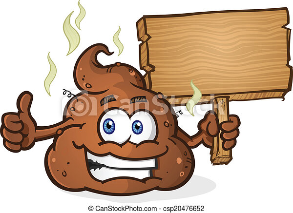 Poop Pile Cartoon Character Thumbs - csp20476652