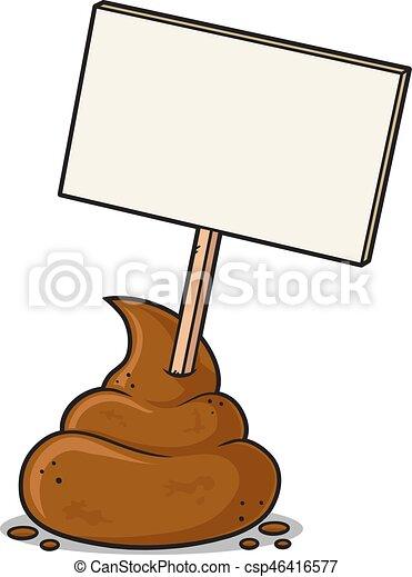 poop sign dog poop with blank sign vector cartoon vectors rh canstockphoto com no dog poop clipart no dog poop clipart