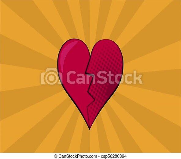 pop art heart broken hd definition pop art heart broken over