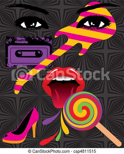 Pop Art Splash - csp4811515
