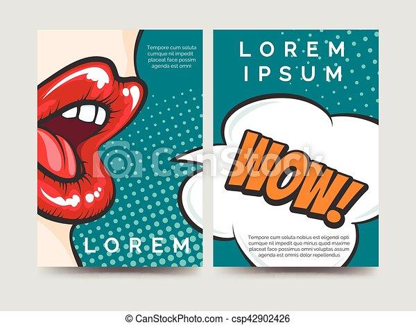 Pop Art Style Brochure Template Pop Art Style Brochure Flyers