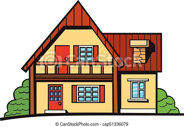 pop art style house sticker house illustration vector sticker pin