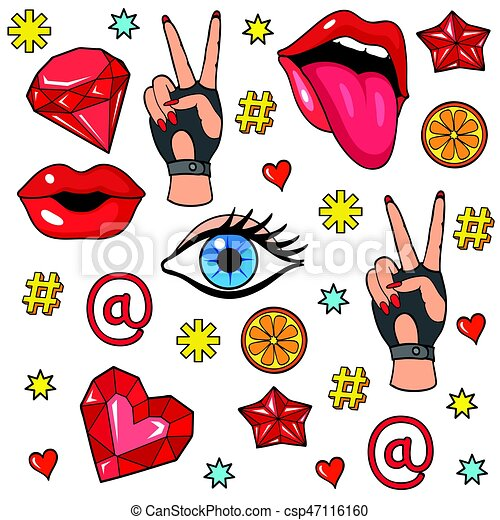 pop art style stickers background with fashion patch clip art rh canstockphoto co uk sticker clipart free download sticker clipart free download