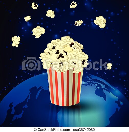 Popcorn and Earth - csp35742080