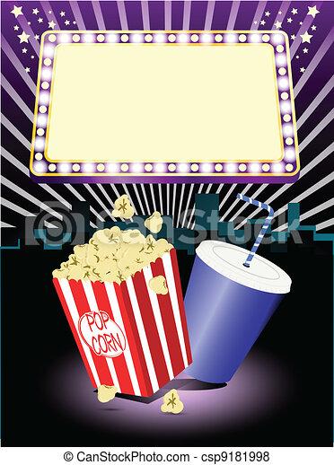 popcorn, bio, soda - csp9181998