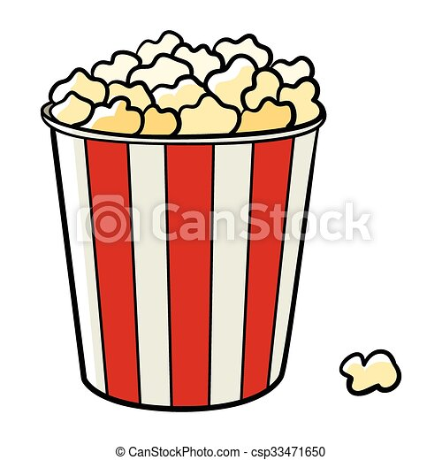 cartoon illustration of a bucket of popcorn clipart vector search rh canstockphoto com popcorn clip art black and white popcorn clipart images